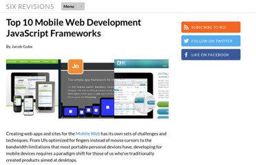 http://sixrevisions.com/javascript/mobile%c2%a0web-development-frameworks/