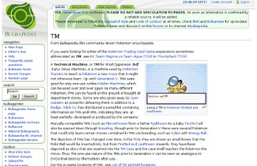 http://bulbapedia.bulbagarden.net/wiki/TM#List_of_TMs
