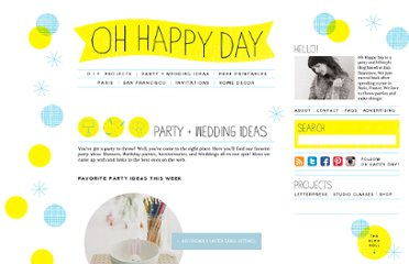 http://ohhappyday.com/category/party-wedding-ideas/