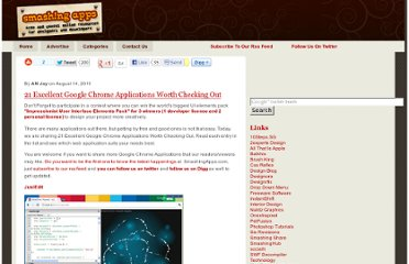 http://www.smashingapps.com/2011/08/14/21-excellent-google-chrome-applications-worth-checking-out.html
