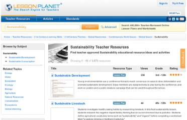 http://www.lessonplanet.com/lesson-plans/sustainability