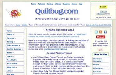 http://quiltbug.com/articles/threads.htm