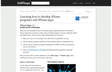 http://janderson99.hubpages.com/hub/Learning-how-to-develop-iPhone-programs-and-iPhone-apps