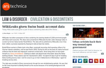 http://arstechnica.com/tech-policy/news/2011/01/wikileaks-given-swiss-bank-account-data.ars#comments-bar