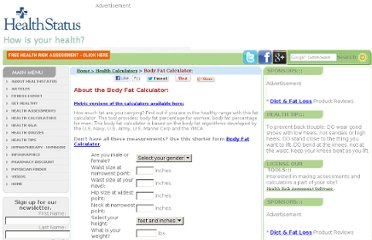http://www.healthstatus.com/calculate/body-fat-percentage-calculator