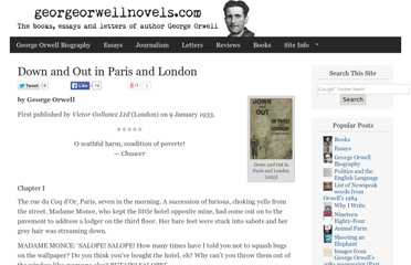 http://georgeorwellnovels.com/books/down-and-out-in-paris-and-london/