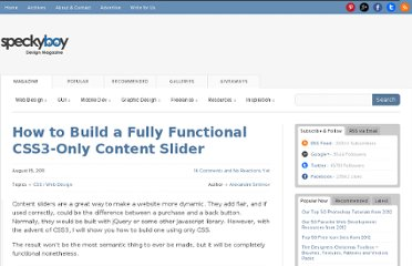 http://speckyboy.com/2011/08/15/how-to-build-a-fully-functional-css3-only-content-slider/