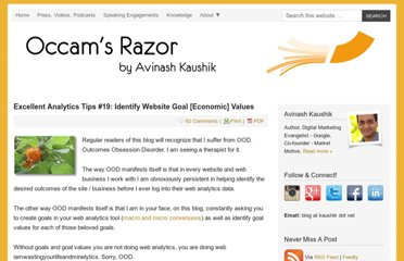 http://www.kaushik.net/avinash/web-analytics-tips-identify-website-goal-values/