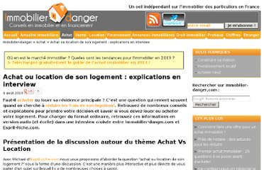 http://www.immobilier-danger.com/Achat-ou-location-de-son-logement-272.html#podcast