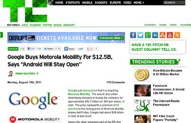 http://techcrunch.com/2011/08/15/breaking-google-buys-motorola-for-12-5-billion/