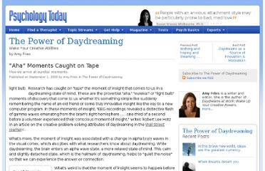 http://www.psychologytoday.com/blog/the-power-daydreaming/200909/aha-moments-caught-tape