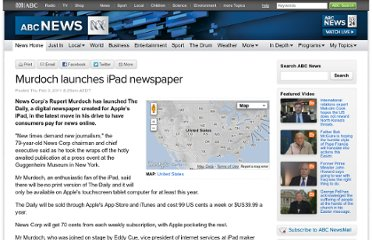 http://www.abc.net.au/news/2011-02-03/murdoch-launches-ipad-newspaper/1927790