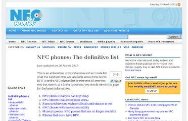 http://www.nfcworld.com/nfc-phones-list/#available