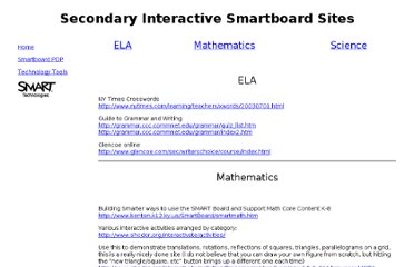 http://www.sachem.edu/dept/sd/smartboard/Secondary%20Resources.htm
