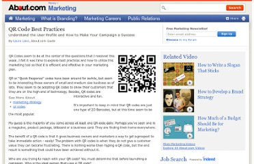 http://marketing.about.com/od/internetmarketing/a/Qr-Code-Basic-Practices.htm