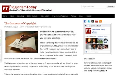 http://www.plagiarismtoday.com/2011/08/01/the-grammar-of-copyright/