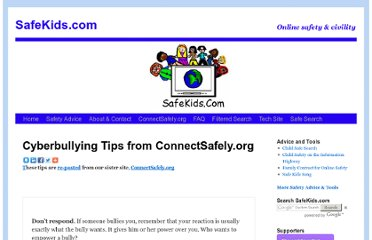 http://www.safekids.com/tips-to-stop-cyberbullying/