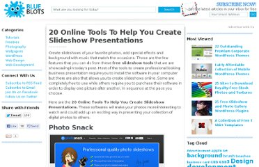 http://blueblots.com/tools/20-online-tools-to-help-you-create-slideshow-presentations/