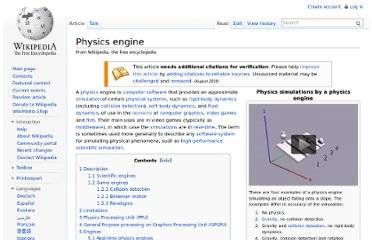 http://en.wikipedia.org/wiki/Physics_engine