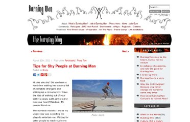 http://blog.burningman.com/2011/08/participate/tips-for-shy-people-at-burning-man/
