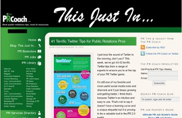 http://www.theprcoach.com/41-terrific-twitter-tips-for-public-relations-pros/
