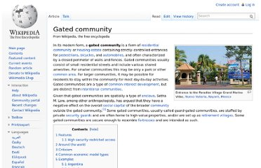 http://en.wikipedia.org/wiki/Gated_community