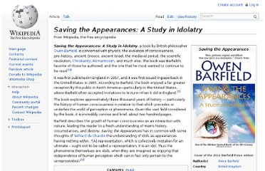 http://en.wikipedia.org/wiki/Saving_the_Appearances:_A_Study_in_Idolatry