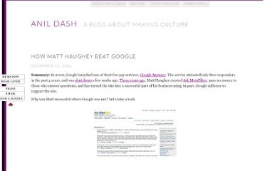 http://dashes.com/anil/2006/12/matt-haughey-beat-google.html