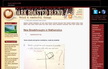 http://www.darkroastedblend.com/2006/11/new-breakthroughs-in-mathematics.html