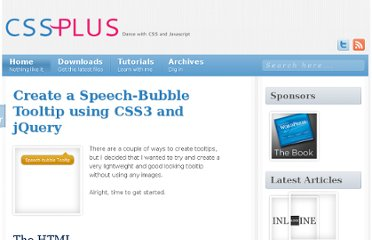 http://css-plus.com/2010/04/create-a-speech-bubble-tooltip-using-css3-and-jquery/