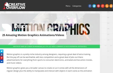 http://creativeoverflow.net/25-amazing-motion-graphics-animationsvideos/