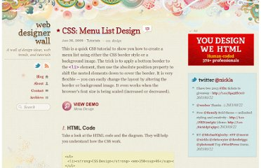 http://webdesignerwall.com/tutorials/css-menu-list-design