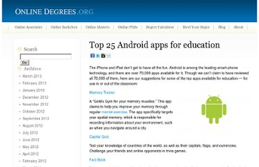 http://www.onlinedegrees.org/top-25-android-apps-for-education/