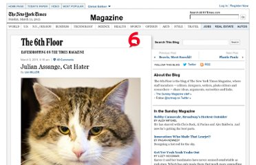http://6thfloor.blogs.nytimes.com/2011/03/09/julian-assange-cat-hater/