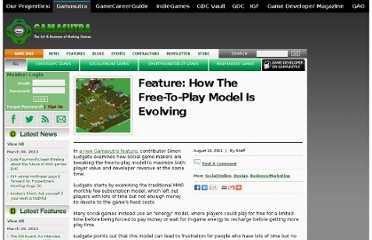 http://gamasutra.com/view/news/36604/Feature_How_The_FreeToPlay_Model_Is_Evolving.php