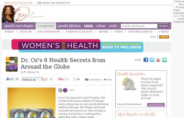 http://www.oprah.com/health/Global-Health-Secrets-Health-Wisdom-from-Around-the-World-Dr-Oz/1