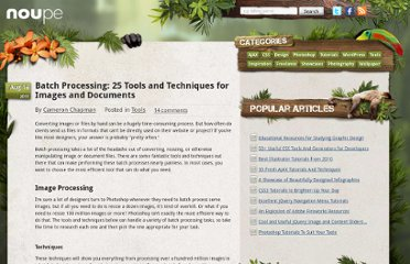 http://www.noupe.com/tools/batch-processing-25-tools-and-techniques-for-images-and-documents.html