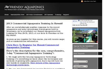 http://www.friendlyaquaponics.com/trainings/group-trainings/