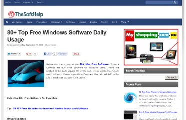 http://www.thesofthelp.com/2009/09/80-top-free-windows-computer-software.html