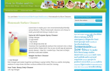 http://howtomakedo.net/260/homemade-surface-cleaners/