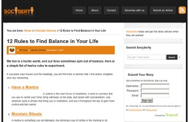 http://socyberty.com/lifestyle-choices/12-rules-to-find-balance-in-your-life/