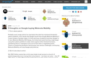 http://gdgt.com/discuss/11-thoughts-on-google-buying-motorola-mobility-flj/