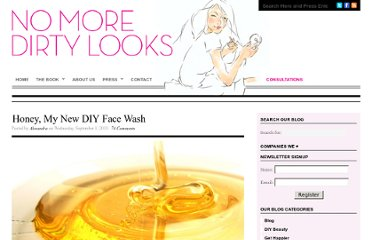 http://nomoredirtylooks.com/2010/09/honey-and-my-new-diy-face-wash/