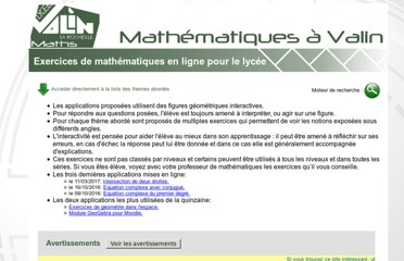 http://lycee-valin.fr/maths/exercices_en_ligne/index.html