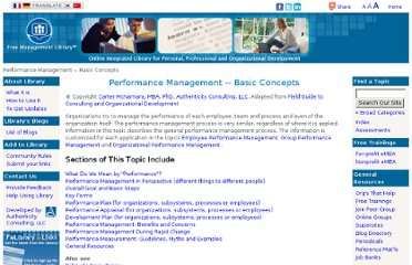 http://managementhelp.org/performancemanagement/index.htm