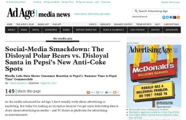 http://adage.com/article/the-media-guy/disloyal-polar-bears-disloyal-santa-pepsi-spots/229074/