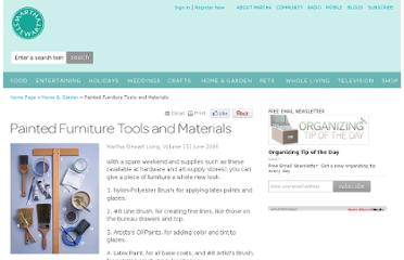 http://www.marthastewart.com/272012/painted-furniture-tools-and-materials