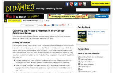 http://www.dummies.com/how-to/content/capturing-the-readers-attention-in-your-college-ad.html