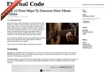 http://www.eternalcode.com/top-10-free-ways-to-discover-new-music-online/