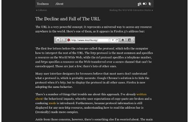 http://www.toolness.com/wp/2011/08/the-decline-and-fall-of-the-url/